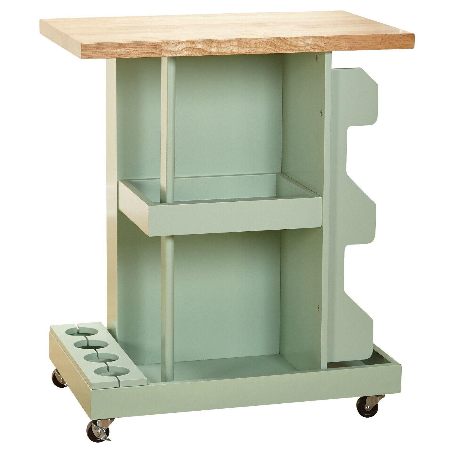Hampton kitchen cart mint target marketing systems mint green