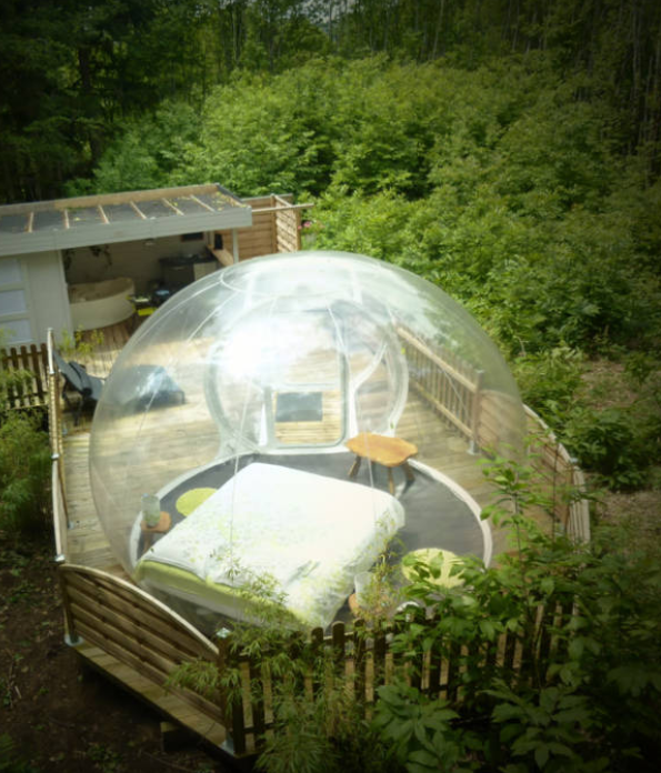 10 Of The Craziest Airbnbs You Can Rent Right Now Bubble Tent Vacation Airbnb Rentals