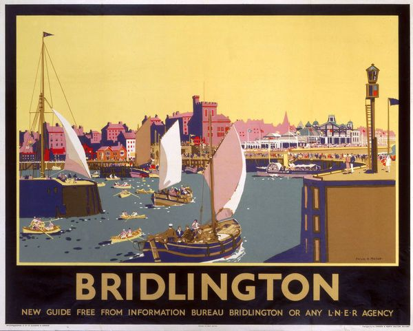 Print of Bridlington, LNER poster, 1936