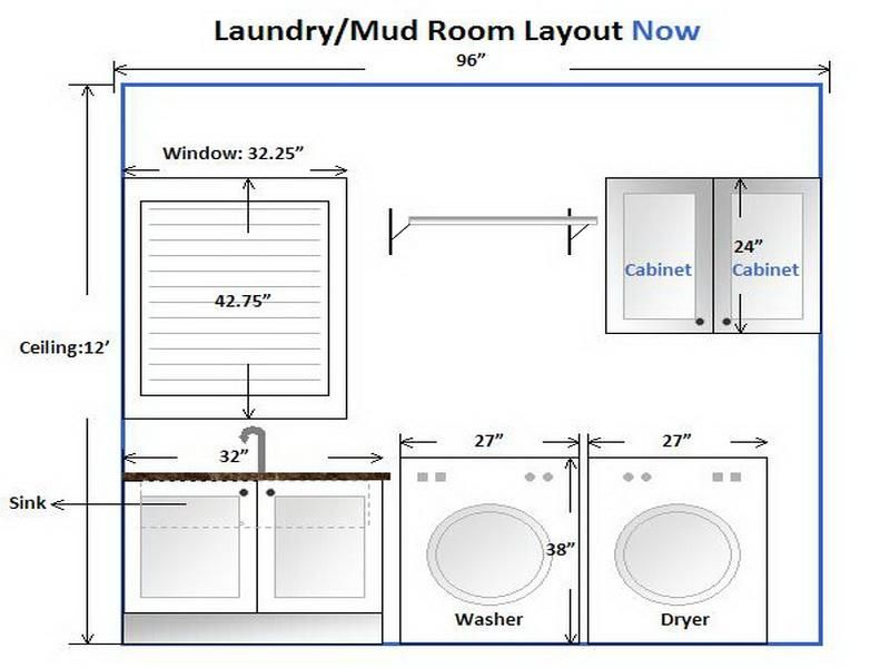 Laundry Room Layout Idea Reversed Drying Rack Over Dryer