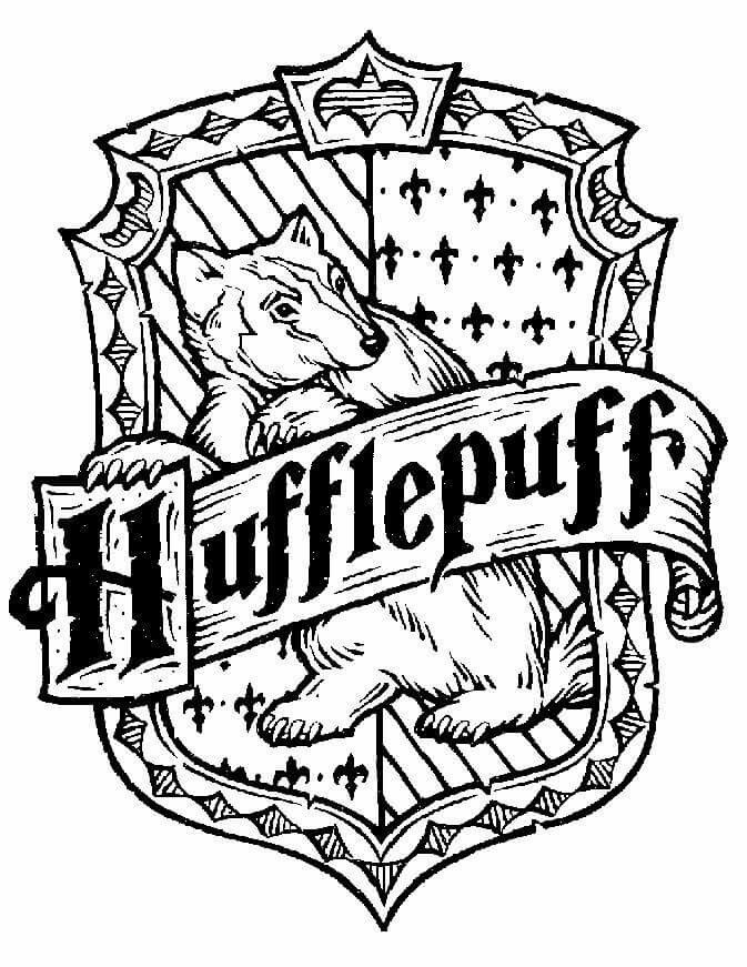 Hufflepuff House Coloring Pages 2 Harry Potter Crest Harry