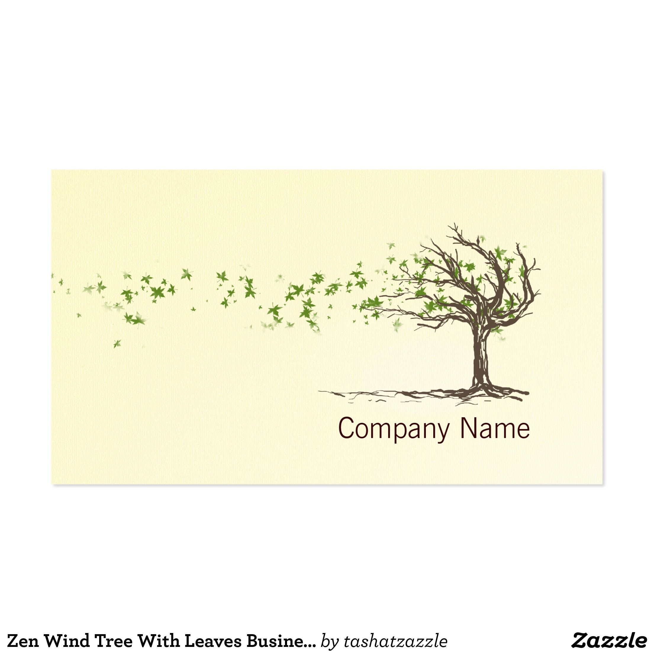 Zen wind tree with leaves business card template business logos zen wind tree with leaves business card template magicingreecefo Choice Image
