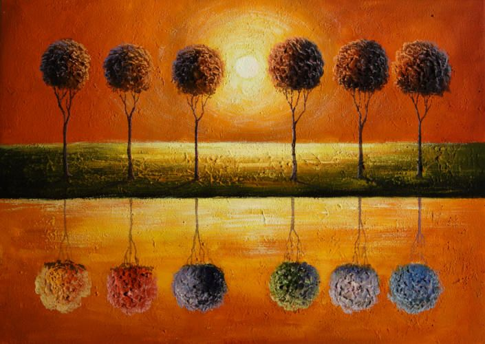 cuadros abstractos cuadros modernos con paisajes abstractos ilusion