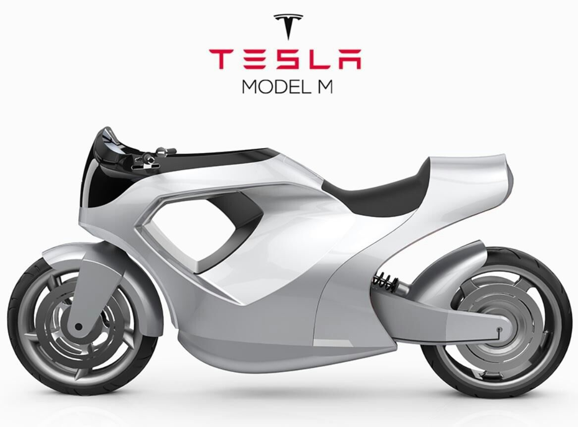 Tesla Model M Official Concept Electric Motorcycle Tesla Model