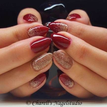 Photo of Nails christmas red gold glitter 48 ideas