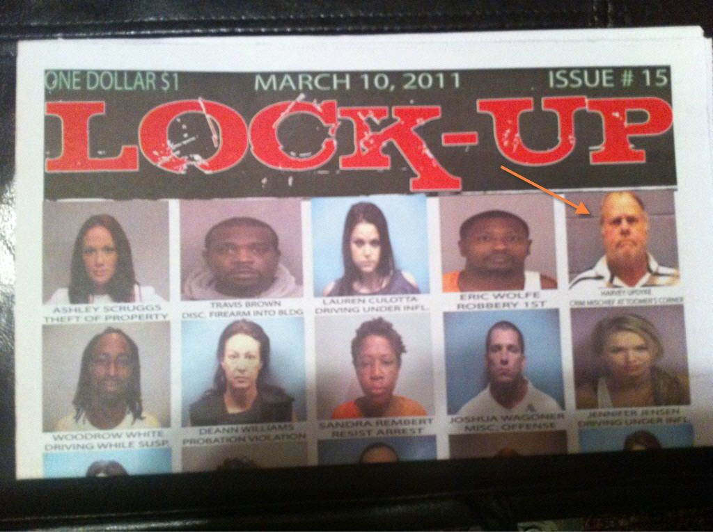 Harvey Updyke (confessed poisoner of Toomer's Oaks) on the front cover of Lock-Up. LOL