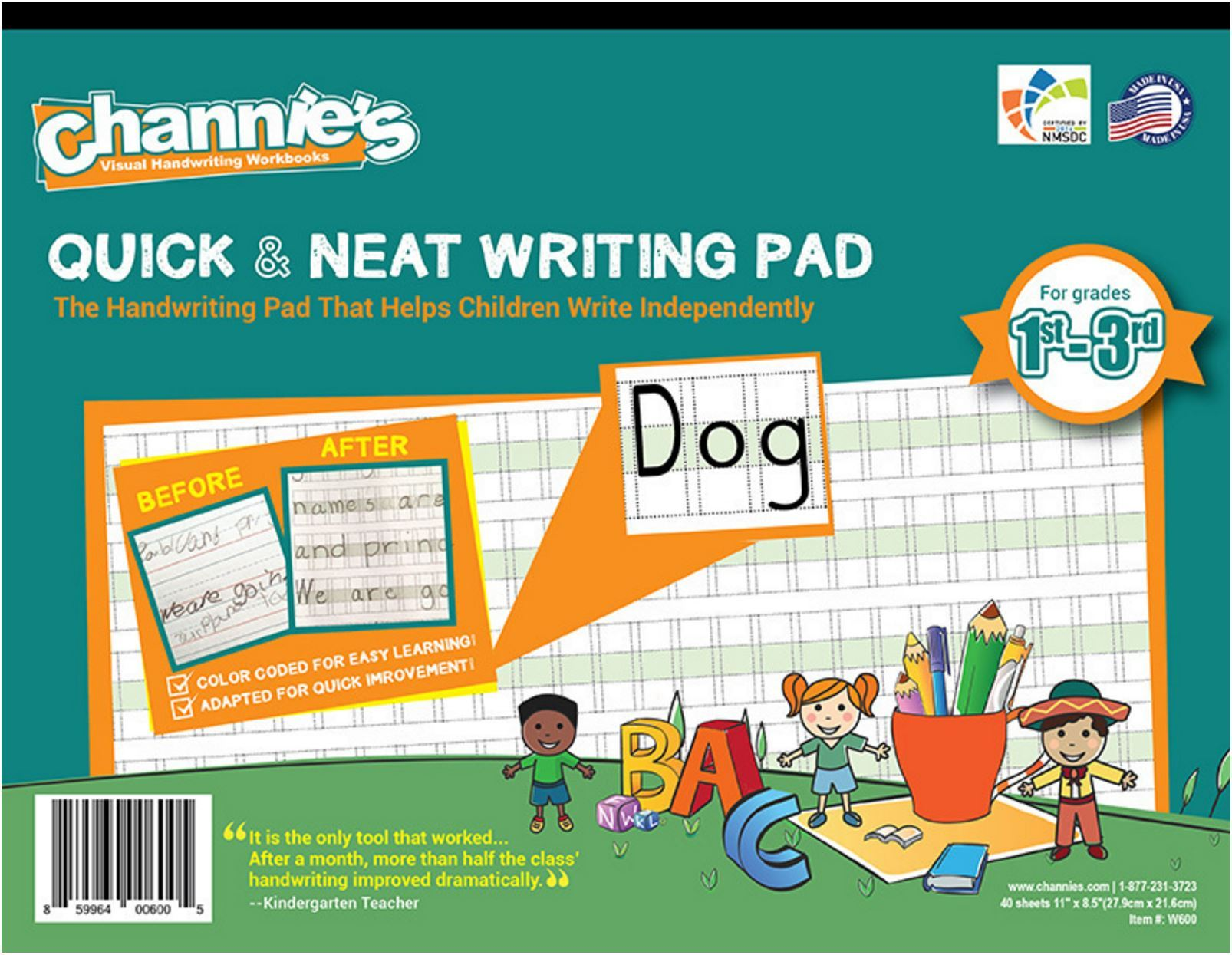 Channie S Visual Handwriting Pad For Grades 1st