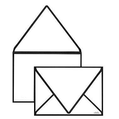 """LUX® 80lbs. 5 1/4"""" x 7 1/4"""" Contour Flap Envelopes W/Glue, Black Seam, 250/BX"""