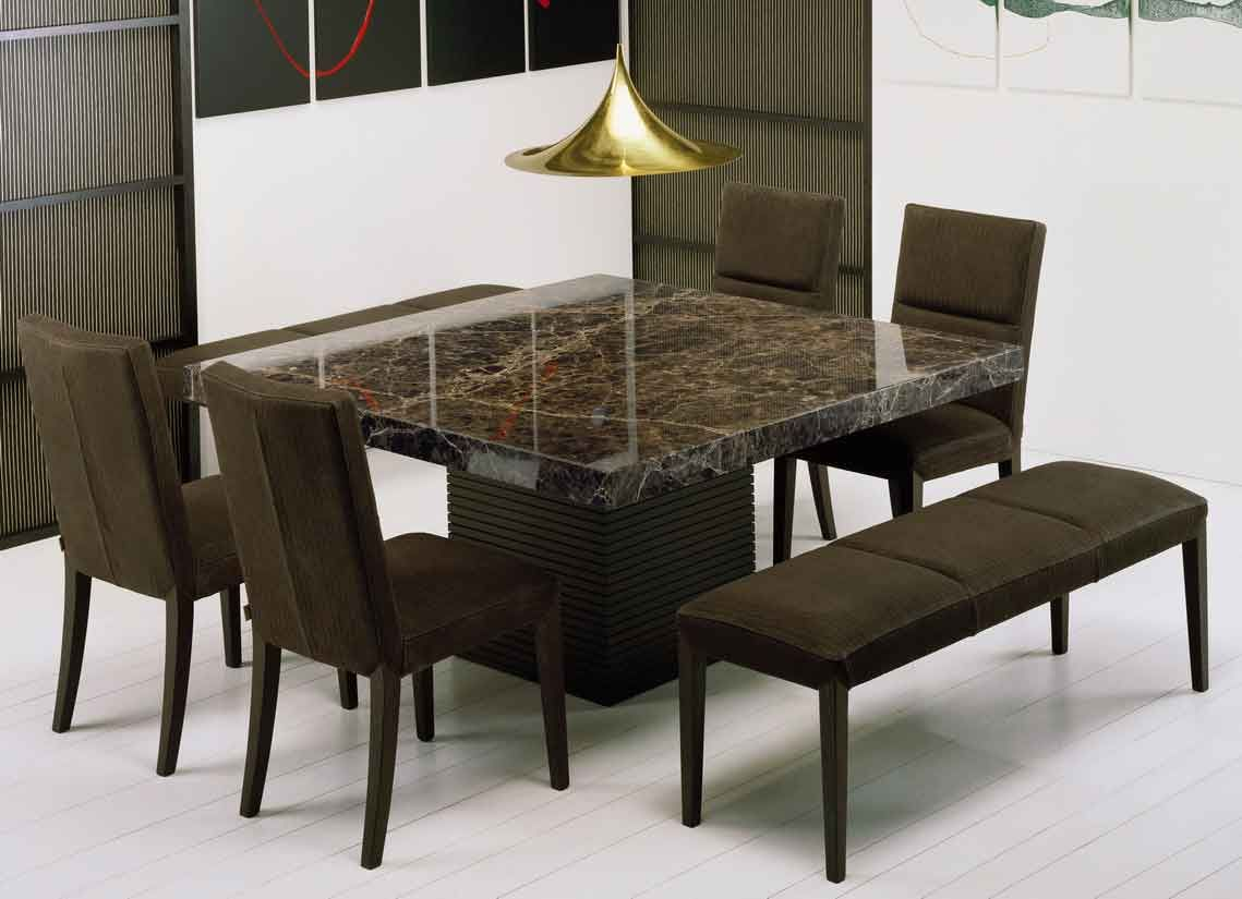 Dining Room Comfortable Brown Stone Dining Table Tn173 Home