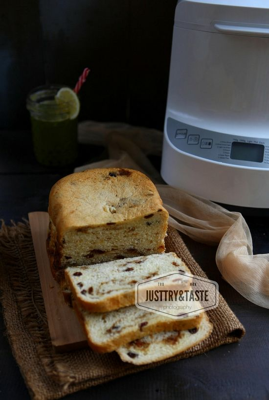 Cinnamon Raisin Bread Feat Philips Bread Maker Plus Tips Menggunakan Bread Maker Resep Aneka Roti Makanan