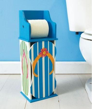 Beach Sandal Flip Flop Toilet Paper Holder Coastal Rug