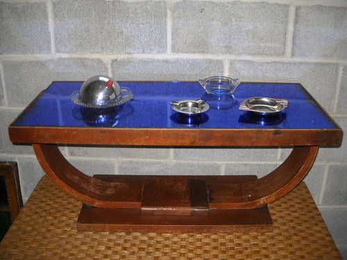 Wonderful Original Art Deco Coffee Table With Rare And Hard To