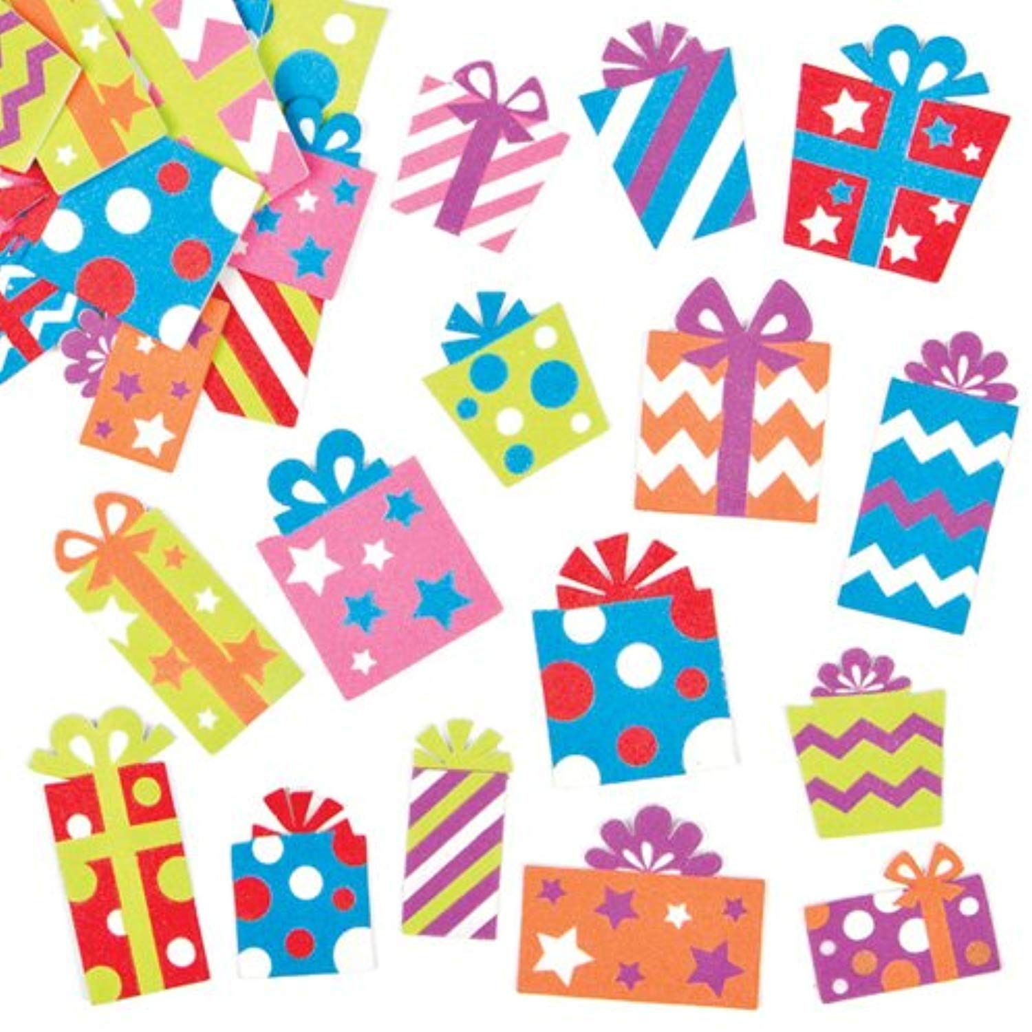 Christmas present foam stickers for children to decorate