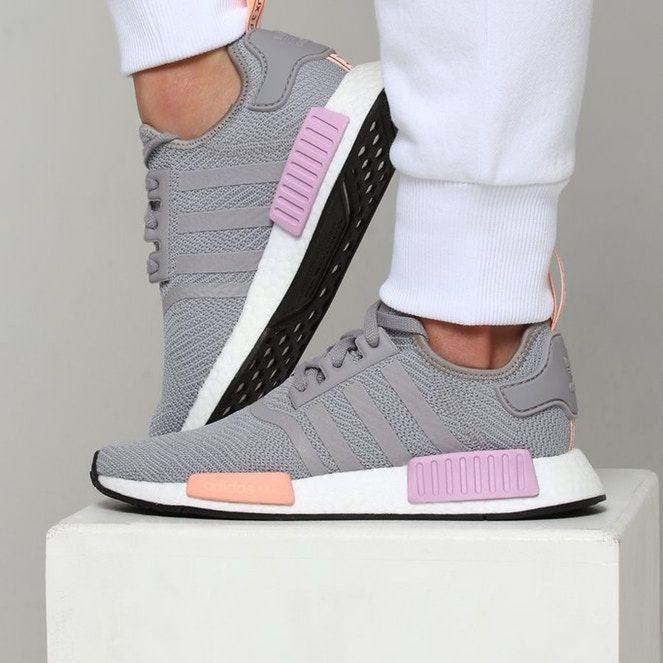 Adidas Women's NMD_R1 Grey/Orange/Pink – Culture Kings | Womens ...