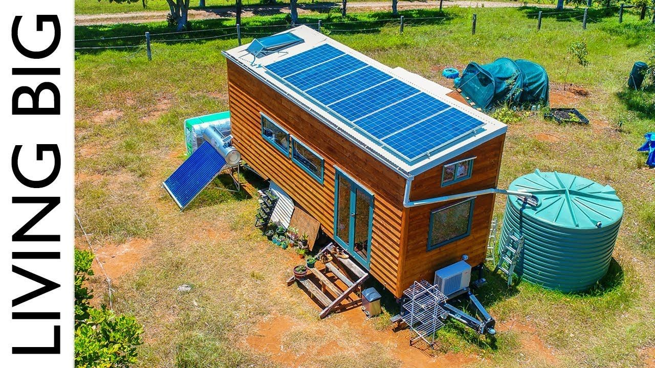 Amazing OffTheGrid Tiny House Has Absolutely Everything… is part of Amazing Off The Grid Tiny House Has Absolutely Everything - Paul and Annett had been living the city life, in an apartment in Sydney, Australia  A desire to lower their impact on the earth and live closer to nature lead them to designing and building their own ecofriendly tiny house powered by renewable energies and moving onto a remote property outside of Byron Bay  Their tiny house is ready for anything! Completely off the grid, this tiny home on wheels generates it's own solar power, collects rain water, uses solar water heating and even generates it's own bio gas for cooking  Check it out below    If you like this idea, be
