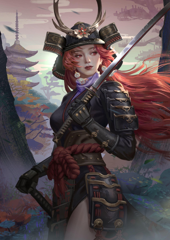ArtStation 《姬和子》《 Ji He Zi》, Hou China Samurai artwork