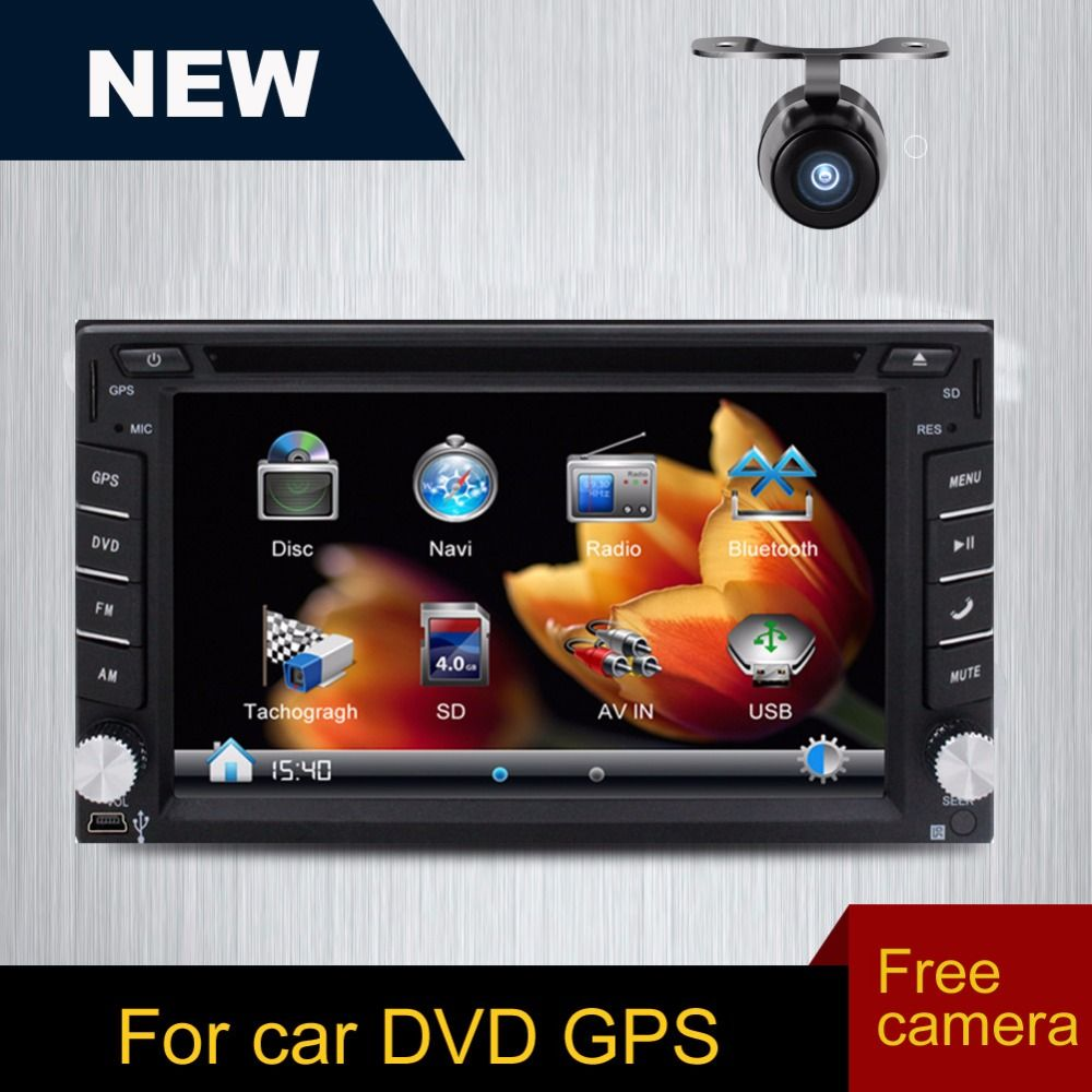 Free Camera Is Included Doubel 2 Din Car Dvd Player Double Din Bluetooth Gps Navigation For Universal Car Free Gps Autor Gps Gps Navigation Car Tracking Device
