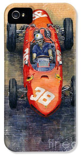 Racing Car F1 Iphone Cases - Ferrari Dino 156 1962 Monaco GP iPhone ...