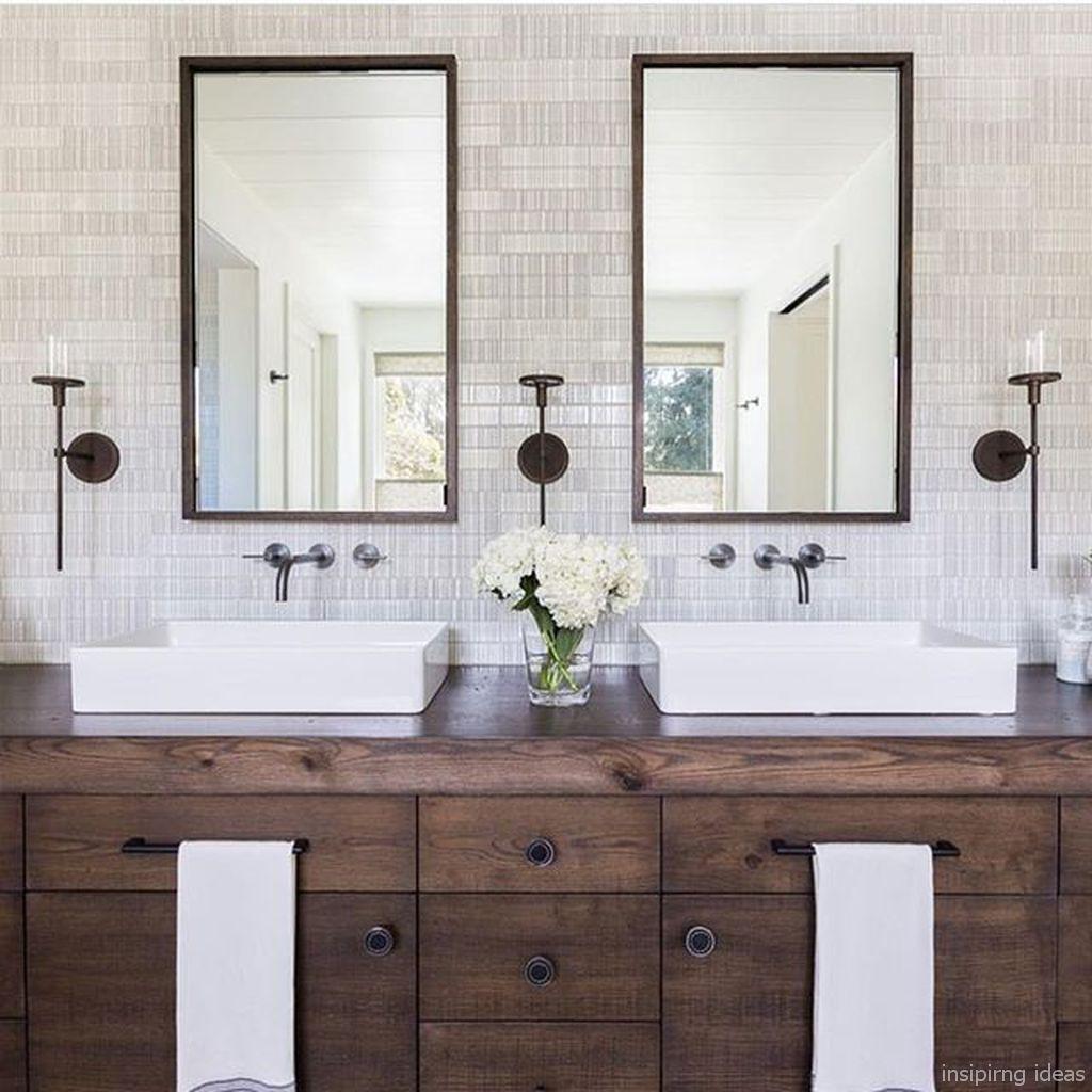 77 Awesome Modern Farmhouse Bathroom Vanity Ideas Modern