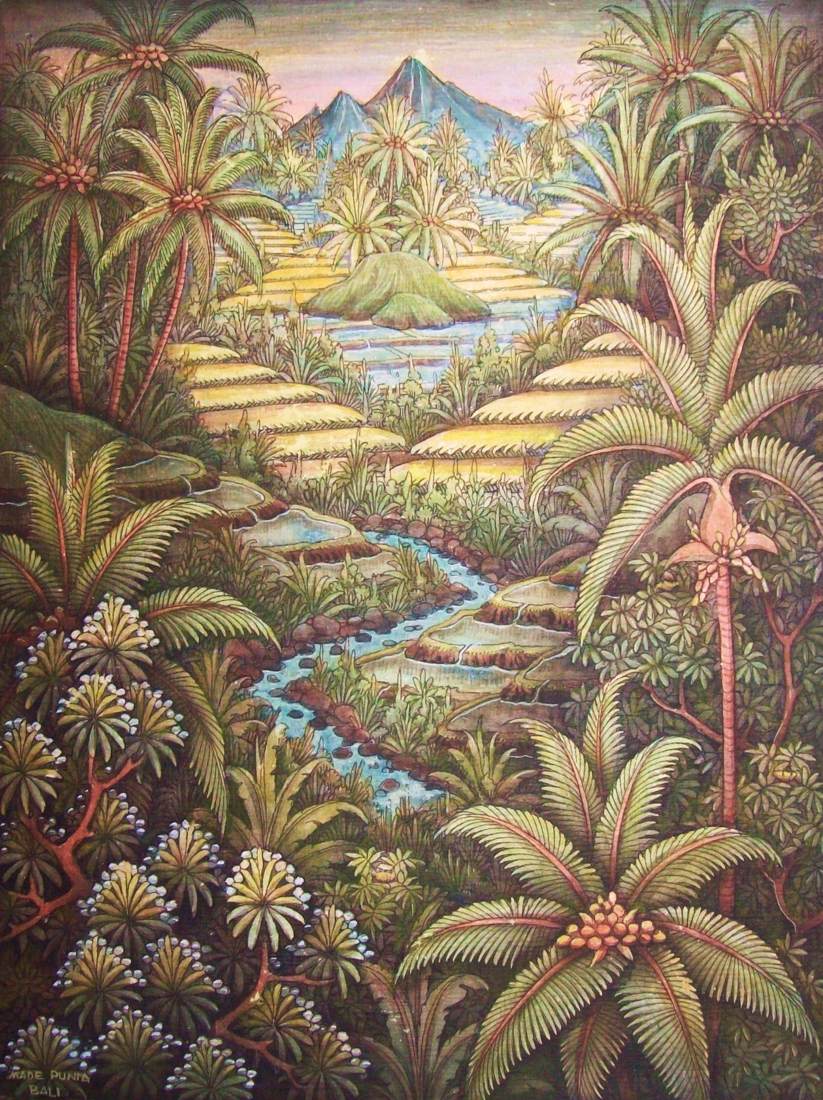 Spies Google Search Bali Painting Indonesian Art Landscape Paintings