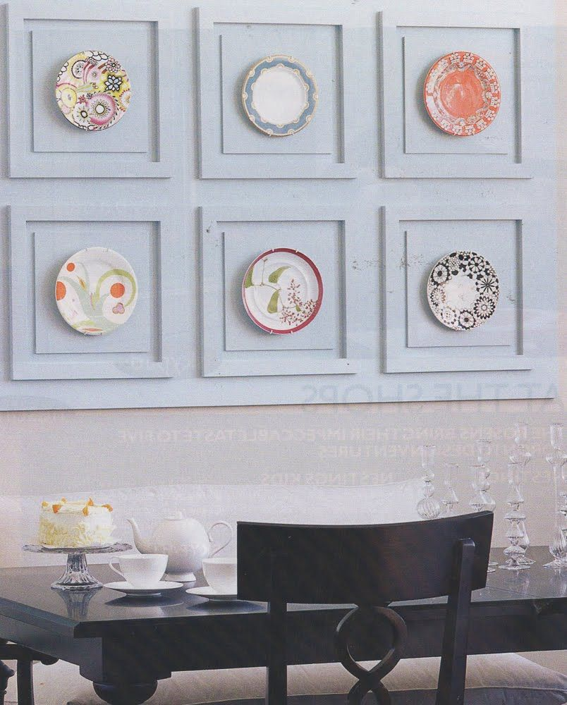unique way to display plates | WALL OF PLATES | Pinterest | Display ...