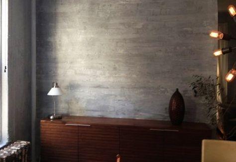 Beton Wand Streichtechnik Für Kreative Wandgestaltung Wohnzimmer Grau