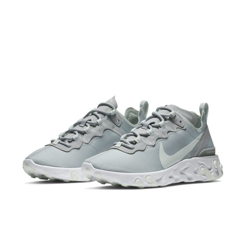 best sneakers e7e9e cc575 Nike Wmns React Element 55 MICA GREEN LIGHT SILVER-WHITE (BQ2728-300) in  2019   fashion   Nike, Nike runners, Shoes