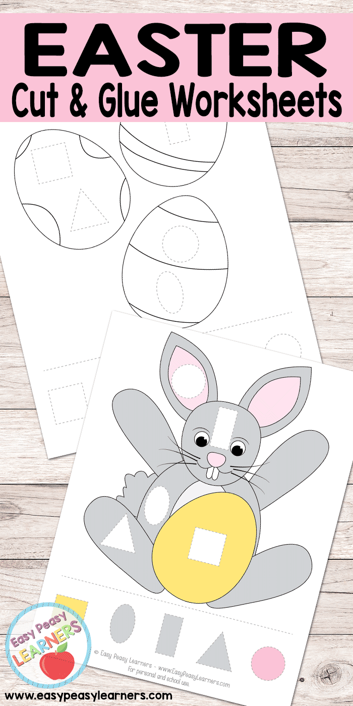 Easter Cut and Glue Worksheets Easter and Passover Activities