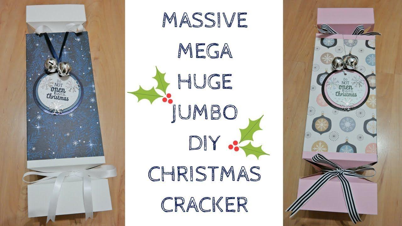 Huge Massive Jumbo Diy Christmas Cracker Original Design Video Tut Christmas Crackers Diy Christmas Crackers Boxed Christmas Cards