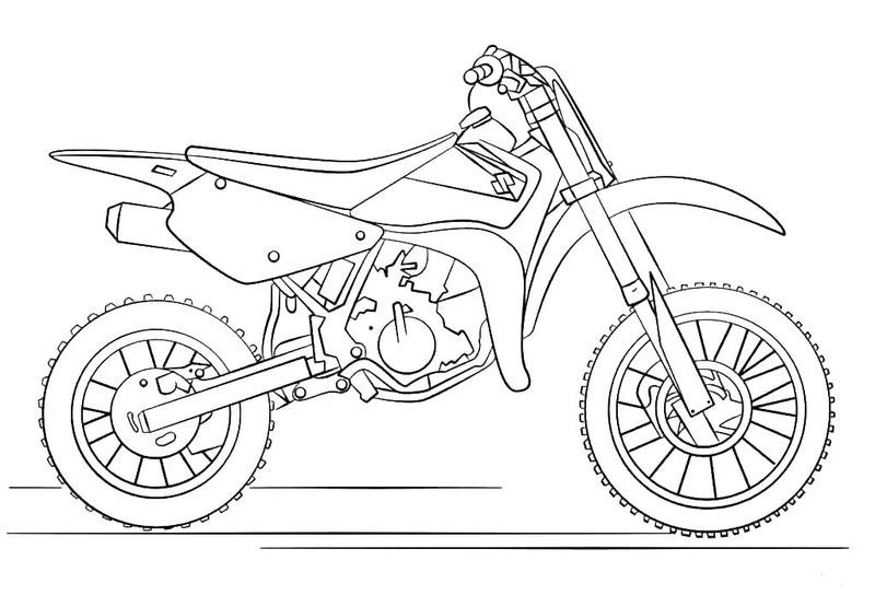 Motorcycle Coloring Book Pages Bike Drawing Motorbike Drawing Coloring Pages