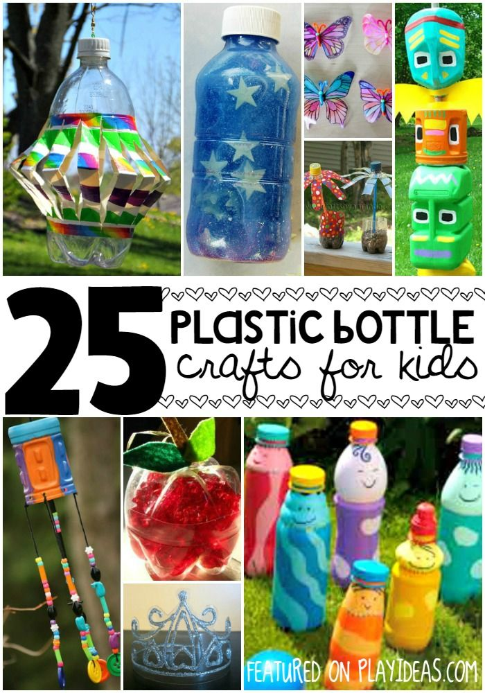 25 plastic bottle crafts for kids pinterest plastic for Recycled water bottle crafts for kids