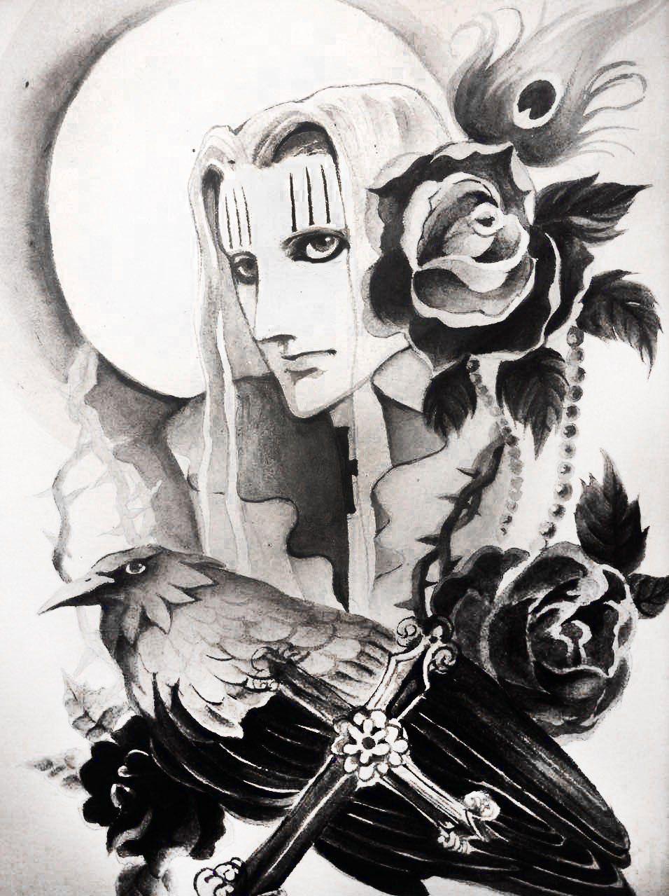 One Piece, Hawkins   Art, Painting, Blackwork