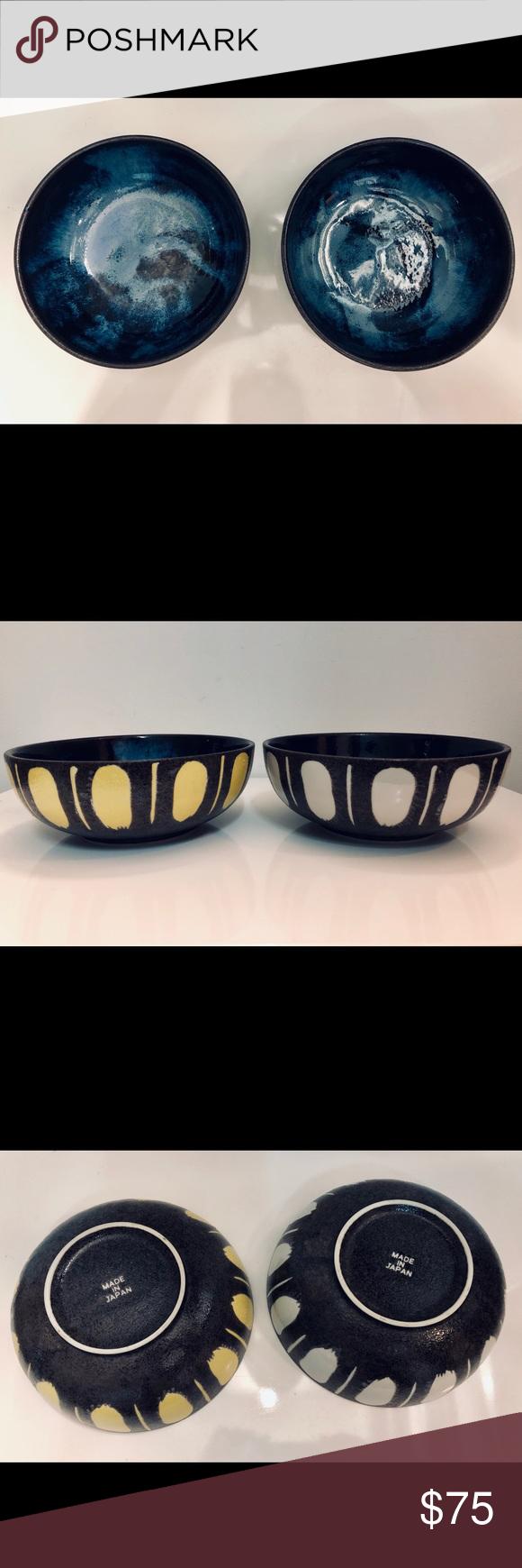 Japanese Mcm Ceramic Bowls Pair Euc Wabi Sabi Ceramic Bowls Ceramics Wabi Sabi