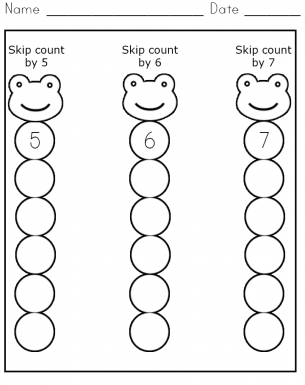 Common Worksheets » Number Line Skip Counting Worksheets ...