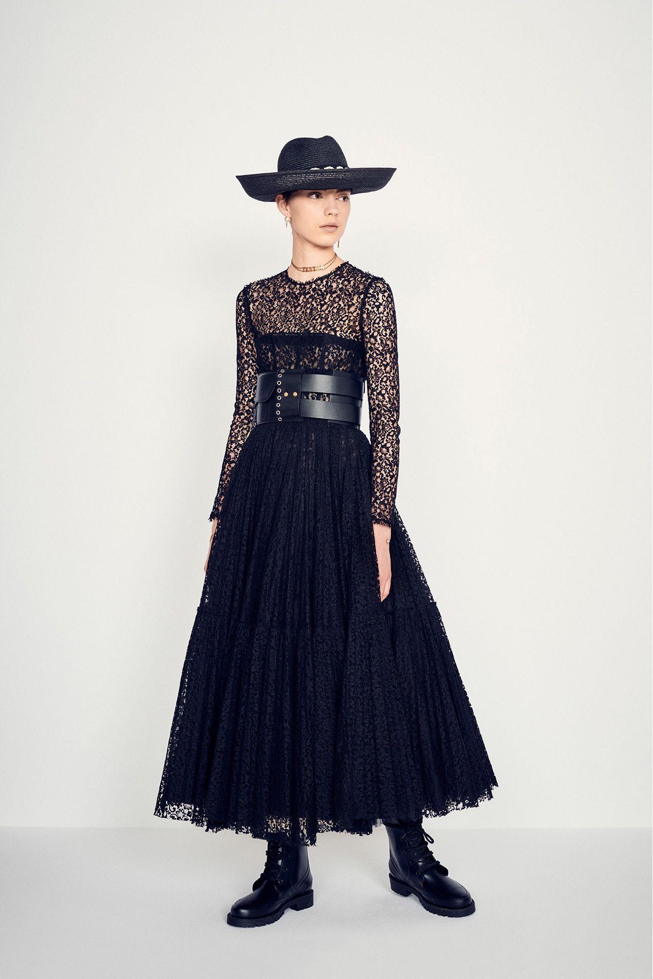 Cotton Lace Dress Black Ariawornviewcropped Dior En 2019