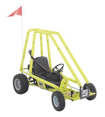 The Kartco Model 447 Go Kart has a 6HP Overhead Valve Tecumseh
