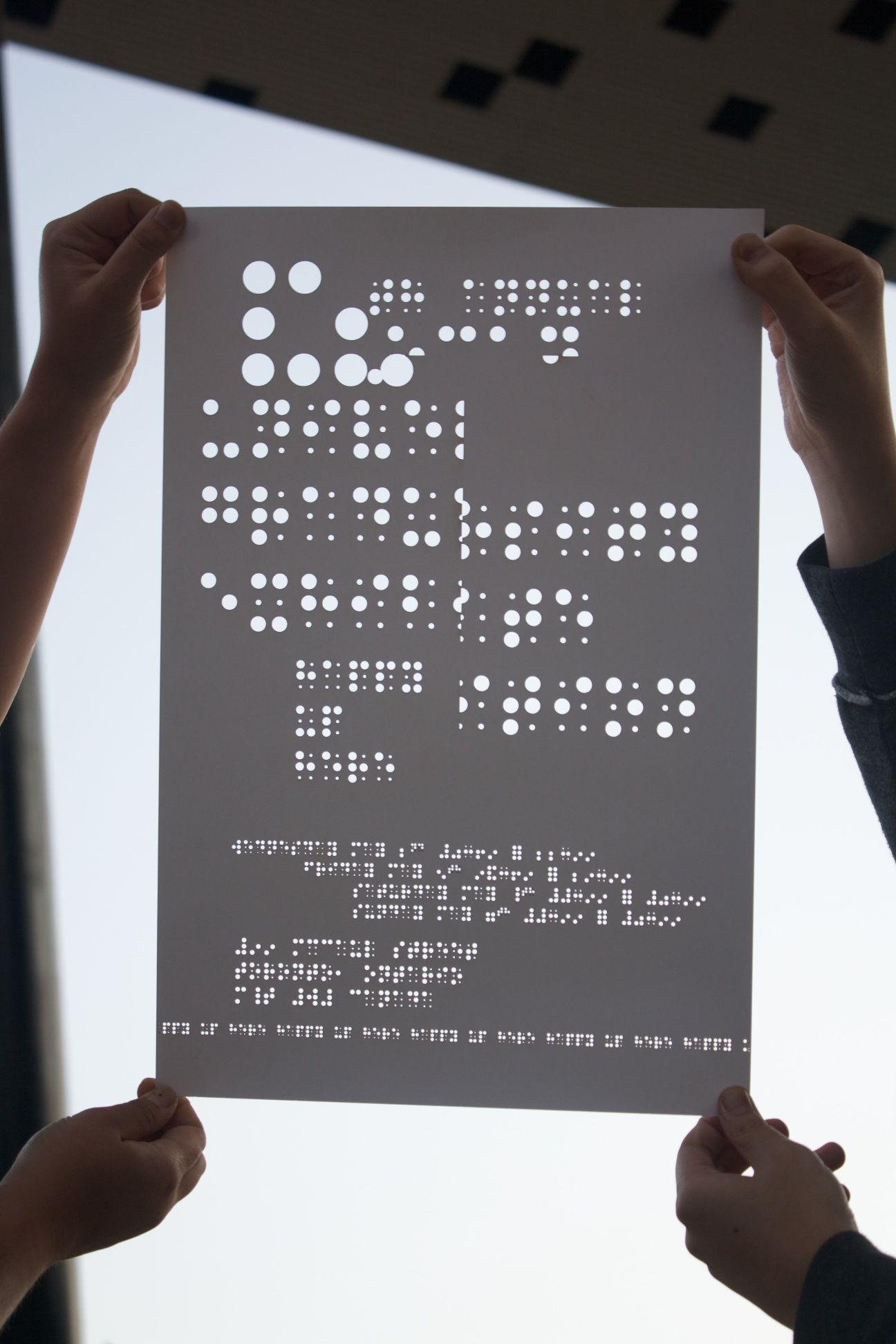 braille poster | layout | Pinterest | Typography, Poster layout ...
