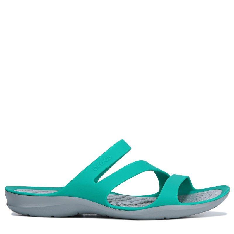 ce7a1041a31 Crocs Women s Swiftwater Slide Sandals (Tropical Teal Light ...