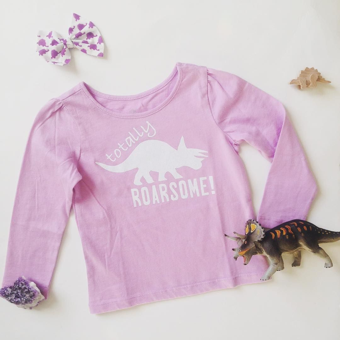 Doodle Dino Tees are Totally Roarsome! Girly Dinosaur Shirts!