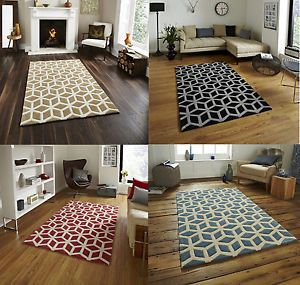 100 Acrylic Large Floor Rug Contemporary Geometric Design Hong