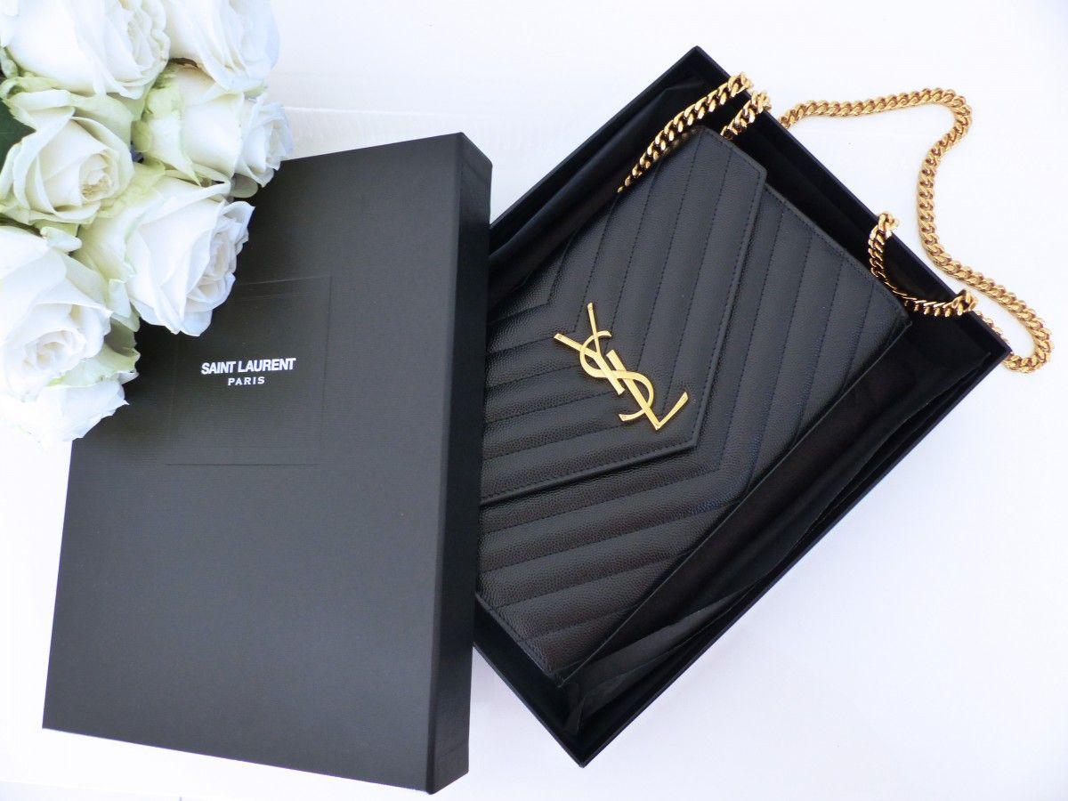 Laurent Chain Wallet Saint Ysl Matelassé Unboxingamp; Review Bag b6yvfgIY7