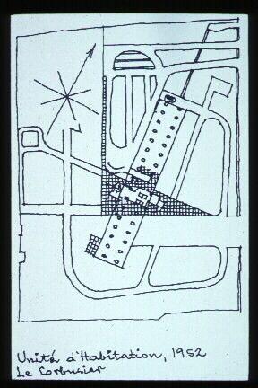 Unité du0027Habitation site sketch Sketse Pinterest Le corbusier