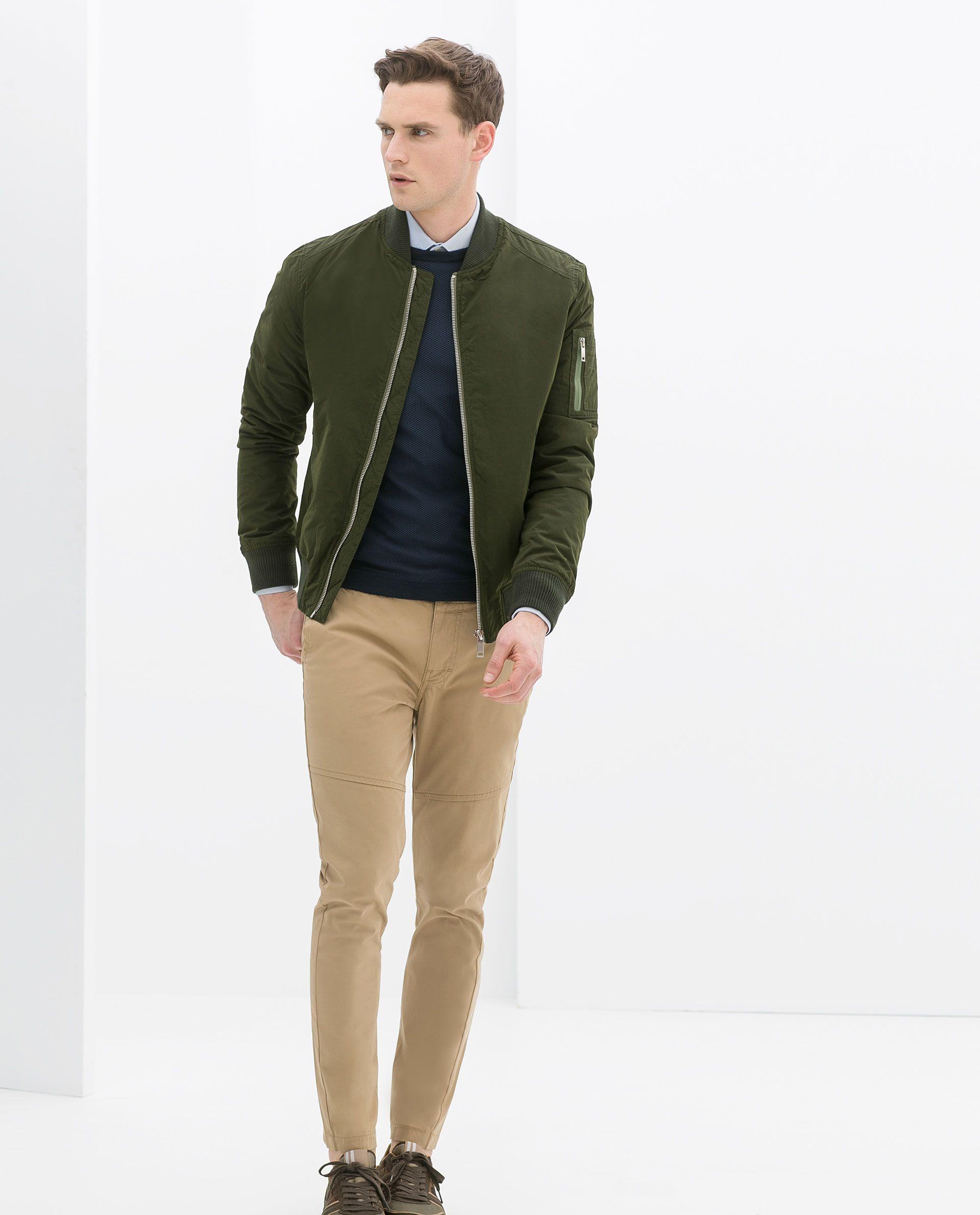 Zara kombinierte bomberjacke 79 95 eur outerwear - Hm herren jeans ...