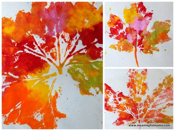 Fall Leaf Prints Easy Crafts