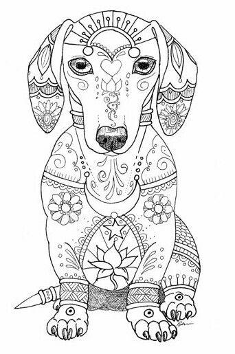 color rama type coloring pages | coloriage chien type mandala | Coloriages pour les enfants ...