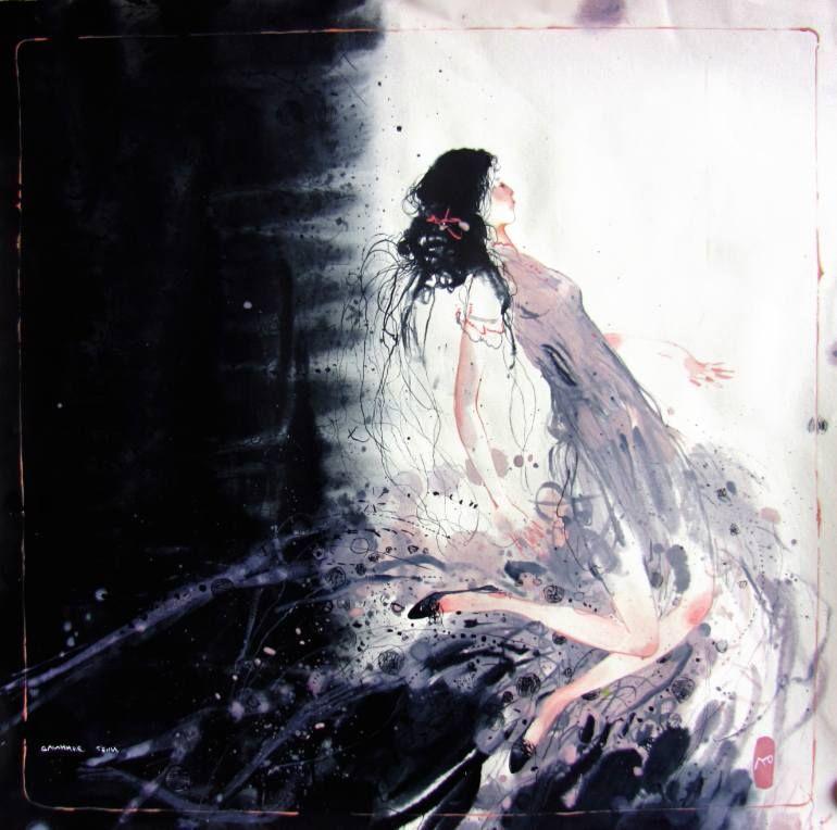 "Saatchi Art Artist Yulia Luchkina; Painting, ""Longer than shadow "" #art"