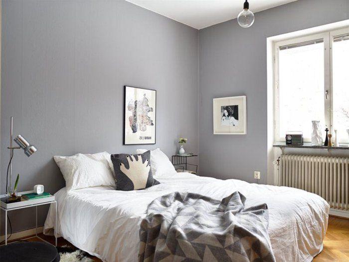 la chambre grise 40 ides pour la dco archzinefr - Peinture Gris Taupe Chambre