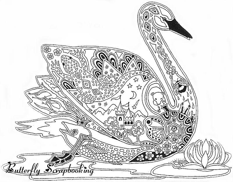 swan line art rubberstamp the like mandalas para colorear dibujos cisne dibujo. Black Bedroom Furniture Sets. Home Design Ideas