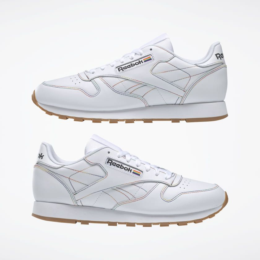 c2e9d6eed8 Reebok Shoes Unisex Classic Leather Pride Shoes in White/Emerald ...