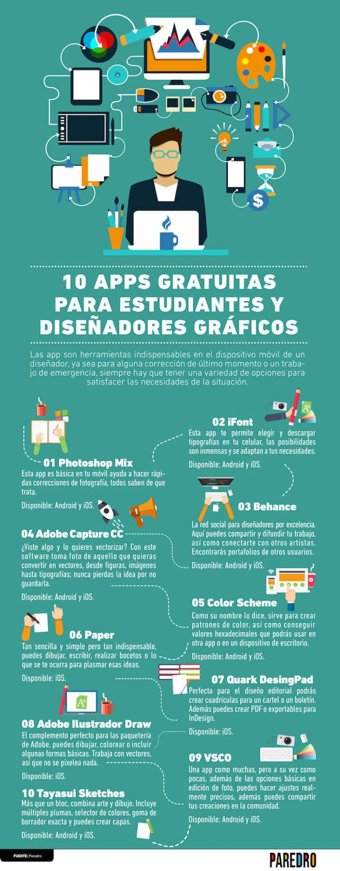 10 aplicaciones gratuitas para estudiantes y diseñadores